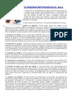 """11 Claves Para Enseã'Ar Motivaciã""""n en El Aula"""