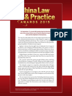 China Law & Practice Awards 2015 Review