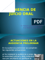 7.- Audiencia de Juicio Oral