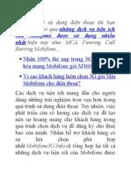 Những Dịch Vụ Tiện Ích Của Mobifone Được Khách Hàng Sử Dụng Nhiều Nhất