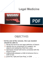 Legal Medicine -Gunshot Wound