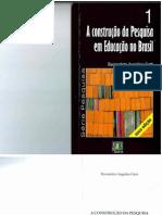 A Construção Da Pesquisa Em Educação No Brasil