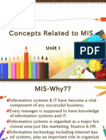 Concepts Related to MIS