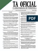 Sumario Gaceta Oficial 39.386