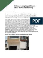 Jual Rumah Di Kelapa Gading Harga 2 Miliaran – Kondisi Baru – Kawasan Berkembang - www.transabled.org