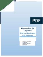 Investigación 1 - Mercados de Capital - Bolsa Nacional de Valores