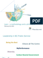 Lean Update to FMC Conference Handout - BC Govt 2013