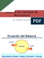 Balance de Cantidad de Movimiento