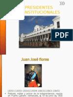Presidentes Consitucionales
