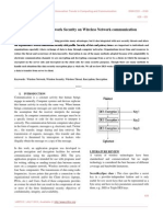 A Java Based Network Security on Wireless Network Communication