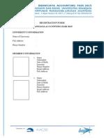Formulir Pendaftaran Baf 2015