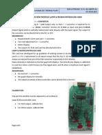 Procedure for New Module Lamp & Microcontroller Card