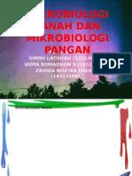 3. Mikrobiologi Tanah Dan Mikrobiologi Pangan