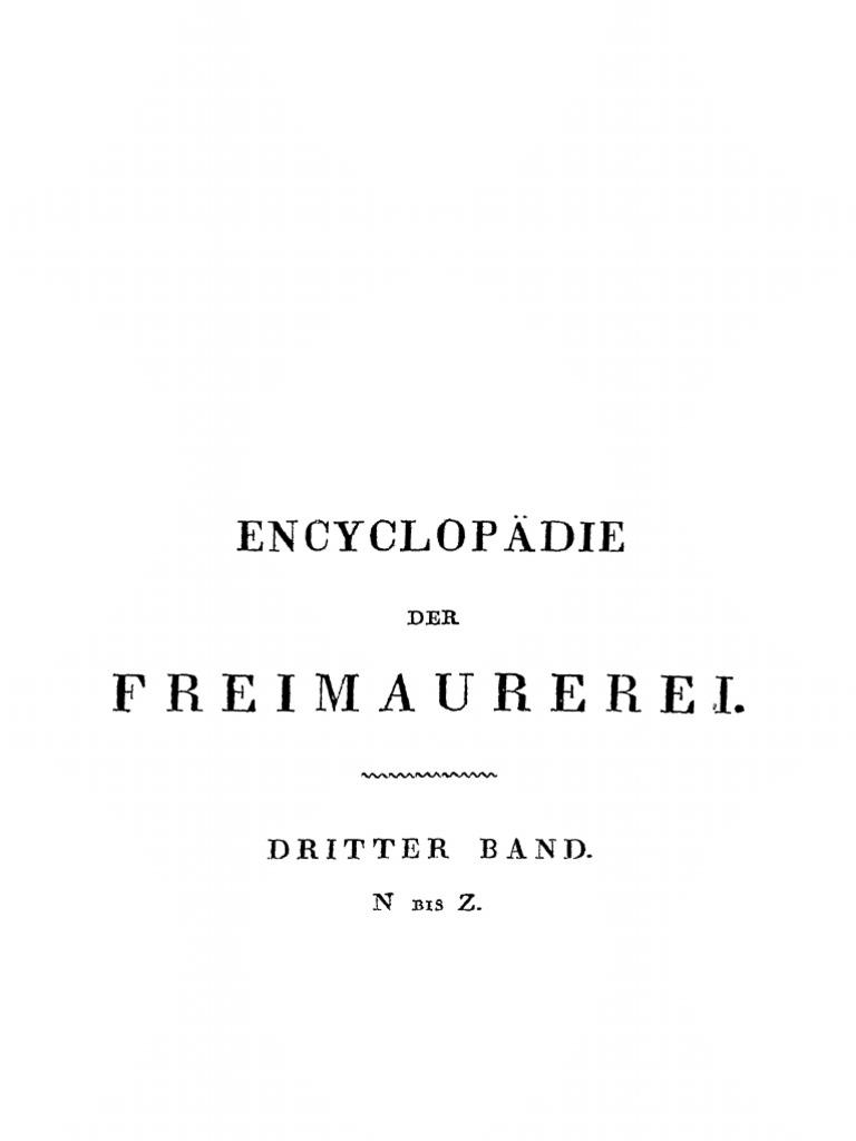 Lenning, C. (i.e. Hesse-Moßdorf); Encyclopädie der Freimaurerei ...