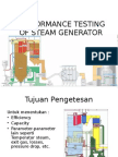 Performance Testing of Steam Generator for Upluad