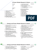 Power Market Research Criteria