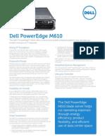 Server Poweredge m610 Specs En
