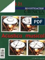 Investigacion y Ciencia - Temas 21 - Acústica Musical