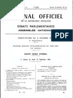 Débat Parlementaire Abolition Peine de Mort 1