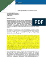 Carta de Investigadores del Colegio de la Frontera de Víctor Espinoza