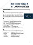 Preparatory Course Module a - Final Test Language Skills - s