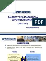 Balance de Los Result a Dos 2007 y 2010_osinergmin