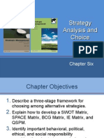11-12. Strategic Analysis and Choice - 30 MAR 2015