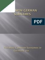 common german surnames  1