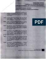 Solución Problemas Tippens Sección 25-3, 25-4, Potencial y Diferencia Potencial