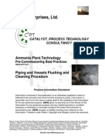 Piping and Vessels Flushing and Cleaning Procedures