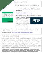 International Journal of Production Research Volume 41 Issue 18 2003 [Doi 10.1080%2F0020754031000%2F595800] Kim, Dongcheol; Rhee, Sehun -- Optimization of GMA Welding Process Using the Du
