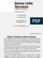 Embassy Lake Terraces, Hebbal, Bangalore