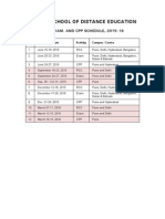 Sode Rcc Exam Schedule2015 16