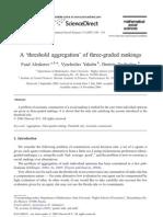 A threshold aggregation of three-graded rankings