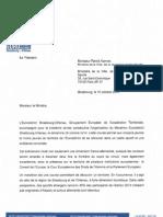 Marathon Eurodistrict - Lettre Au Ministre Des Sports