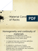 Material Constitution of Rock
