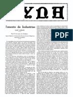 1926 11 001 Fomento de Industrias