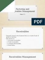 Factoring and Receivables Management