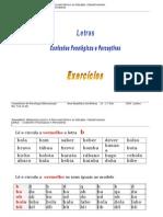 Letras_Confusões Fonológicas e Perceptivas_Exercícios