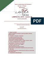 LAMPEA-Doc 2015 - numéro 28 / Lundi 12 octobre 2015