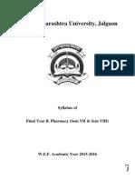 2015-16 Final Year B.pharmacy