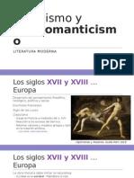 Clasicismo y Prerromanticismo