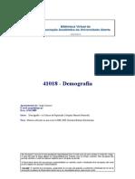 41018 - Demografia - (Apontamentos) Jorge Loureiro