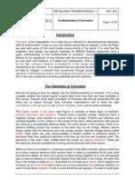 Fundamentals of Corrosion