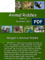 Animal Riddles Powerpoint