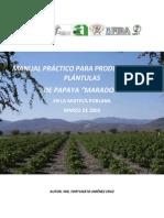 MANUAL PRÁCTICO PARA PRODUCTORES DE PLÁNTULAS