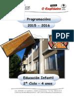 Ceip o Castiñeiro - Programación e. Infantil - 04 Anos - 2015-16