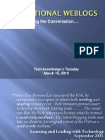 Tech Tuesday Weblogs PDF