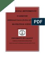BA Politics - VI Sem. Additional Course - New Social Movements