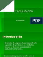 Tamano y Localizacion Del Proyecto